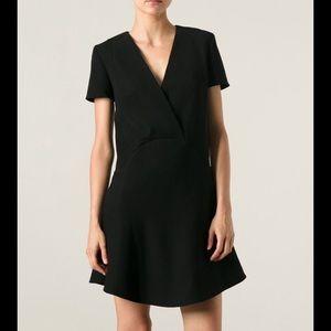 Carven Cady Crepe Dress in Black Size 40 (8)